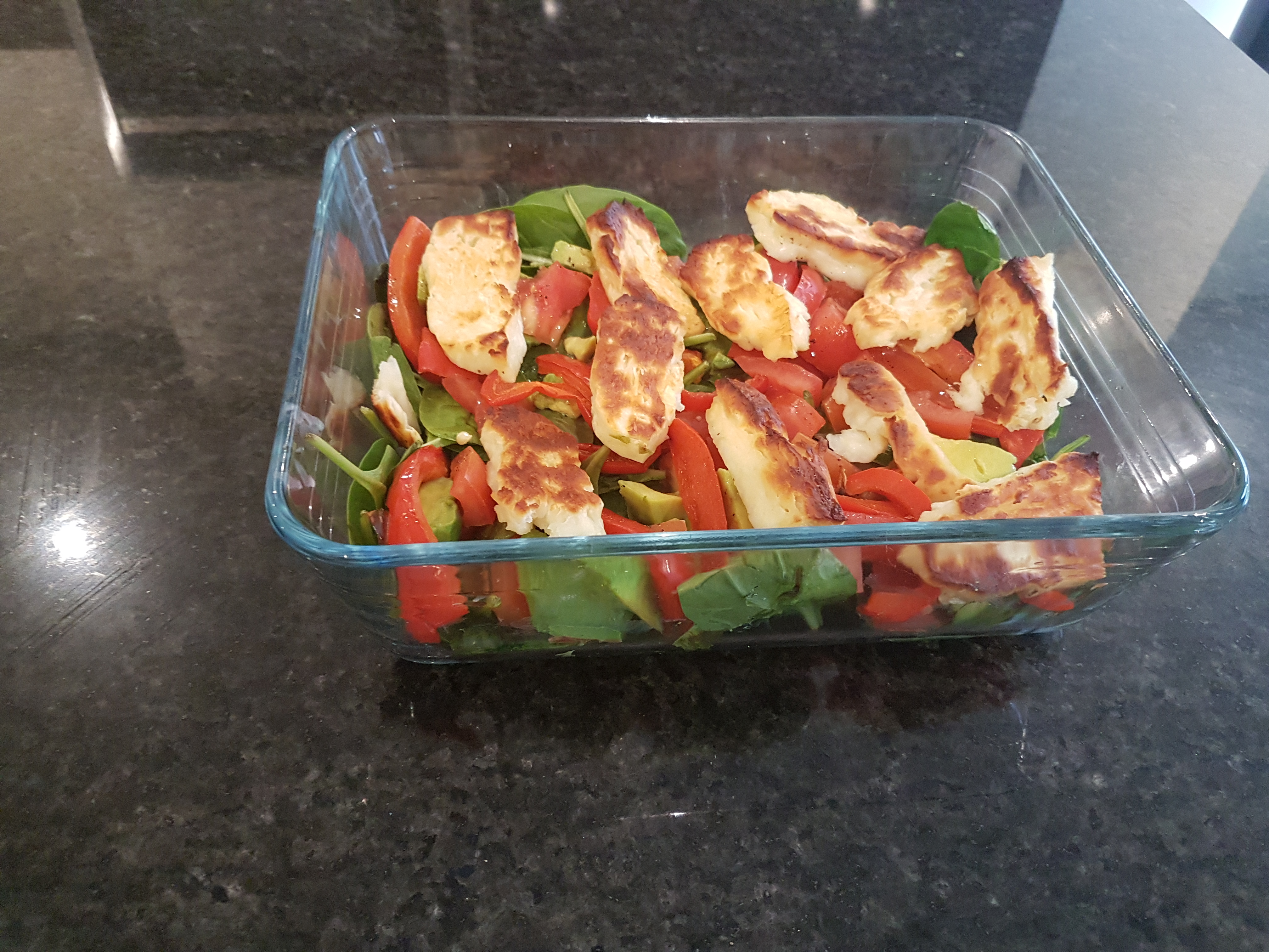 Red Pepper and Halloumi Salad